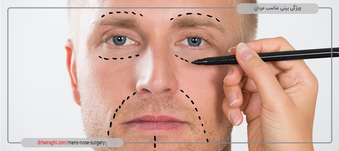 ویژگی بینی مناسب مردان